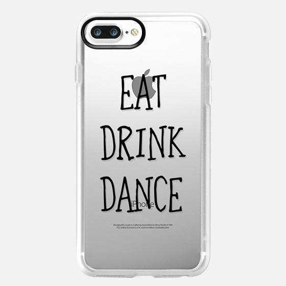 Eat drink dance black - wedding -