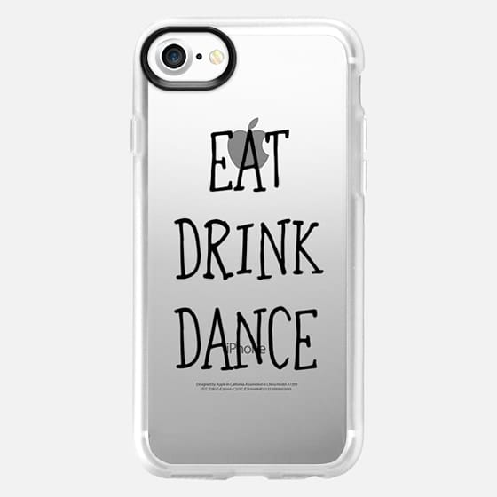 Eat drink dance black - wedding - Classic Grip Case