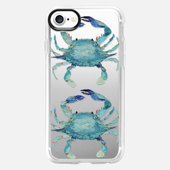 Transparent Blue Crabs - Wallet Case