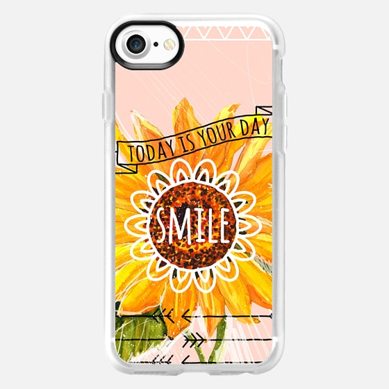 Smile, Today Is Your Day. - Wallet Case