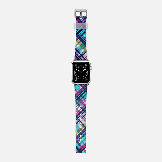 Hipster Bands: Colorful Bohemian Hipster Plaid Pattern Apple Watch Band