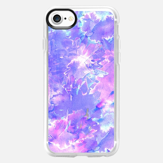 Blue, Purple, Teal, and Pink Watercolor Paint Explosion - Wallet Case