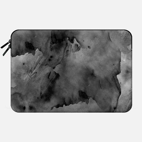 50 Shades of Grey Watercolor - Macbook Sleeve