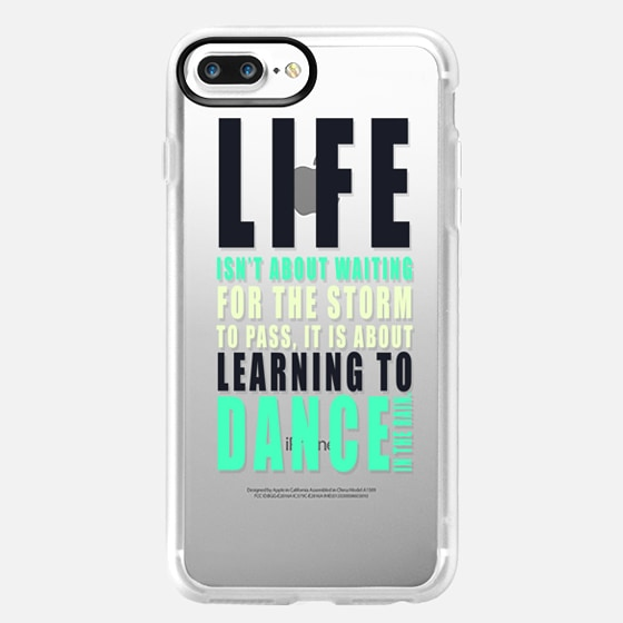 """""""...LEARNING TO DANCE IN THE RAIN."""" Text Motivational Typography on Transparent -"""