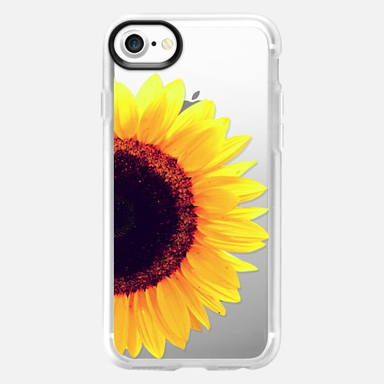 Bright Yellow Summer Sunflower Flowers on Transparent Background - Wallet Case