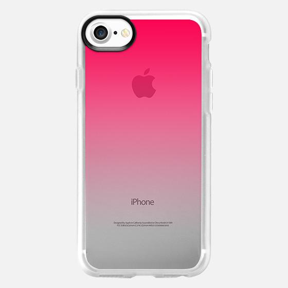 Simple Trendy Hot Neon Pink to Transparent Gradient - Wallet Case