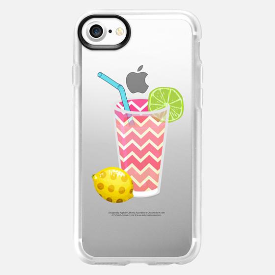 Summer Fruity Lemons and Limes Lemonade Juicy Drink on Transparent Background - Wallet Case