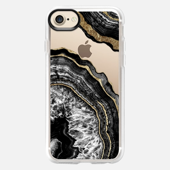 Agate Black and Faux Gold - Classic Grip Case