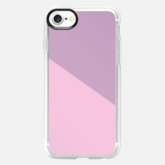 Simple Modern Angle Pastel Pink Purple  - Wallet Case