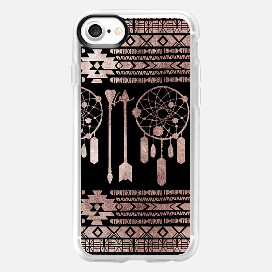Dreamcatcher Tribal Native American Aztec in Modern Chic Faux Rose Gold -