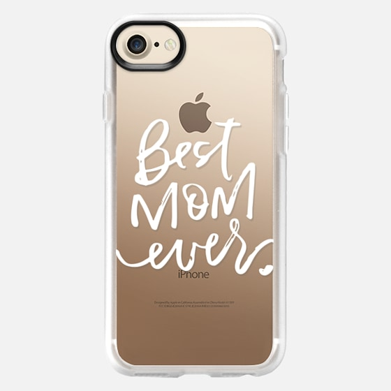 Best Mom Ever // hand lettered (white) - Classic Grip Case
