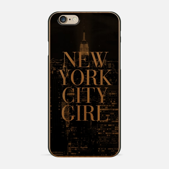 New York City Girl Black & White Manhattan Skyline -