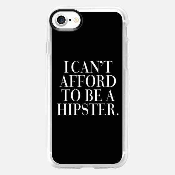 I Can't Afford to be a Hipster Vogue Typography -