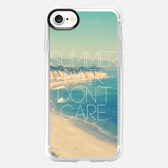 Summer Hair Don't Care Vintage Instagram Beach - Classic Grip Case