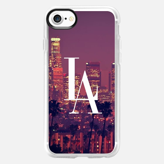 Los Angeles Downtown Skyline Vintage Typography DTLA -