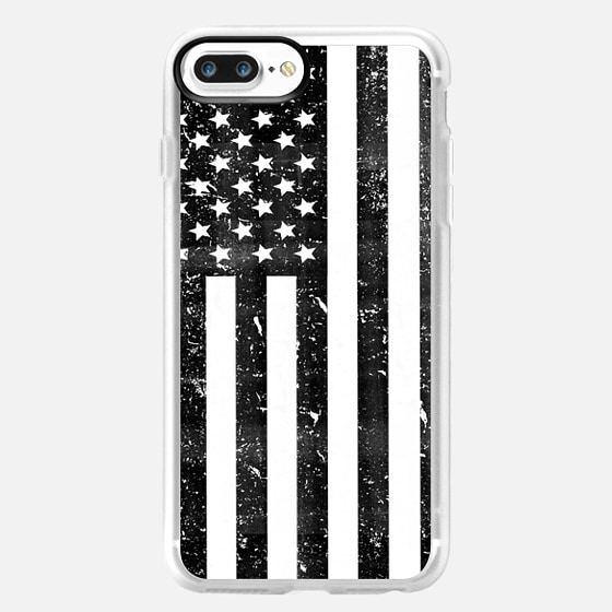 Black and White Dirty Vintage American Flag USA -