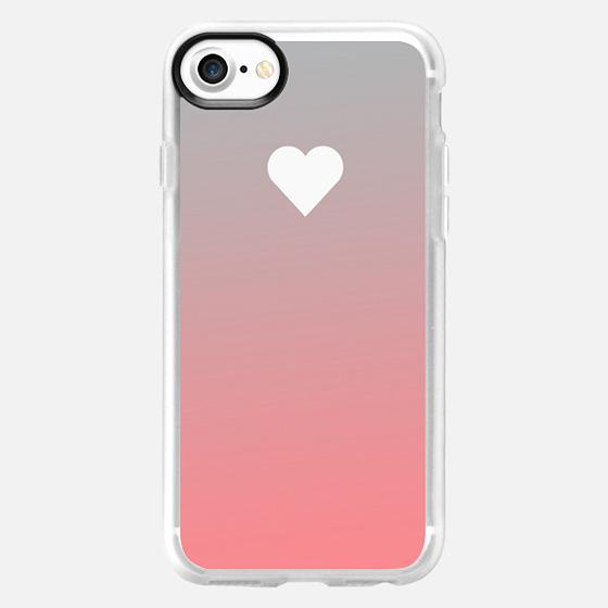 Peach Fade Apple Heart -