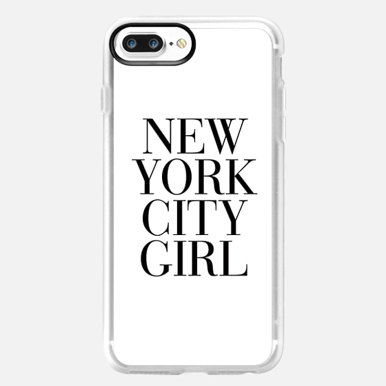 New York City Girl Vogue Typography - Classic Grip Case