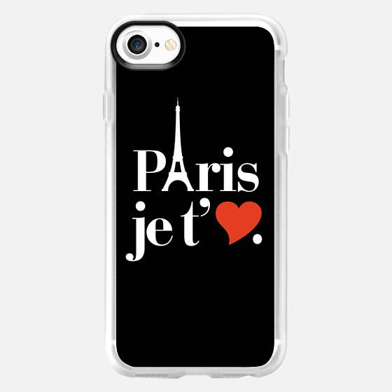 Paris je t'aime Eiffel Tower Heart Typography -