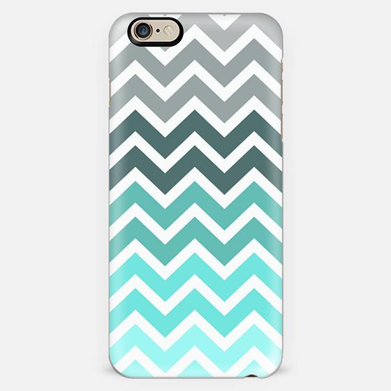 Tiffany Mint Chevron Fade iPhone 6 Case -