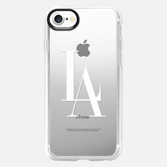 LA Los Angeles White Transparent Typography - Wallet Case
