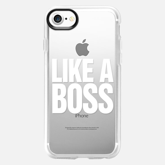 Like a Boss White Transparent Typography - Wallet Case