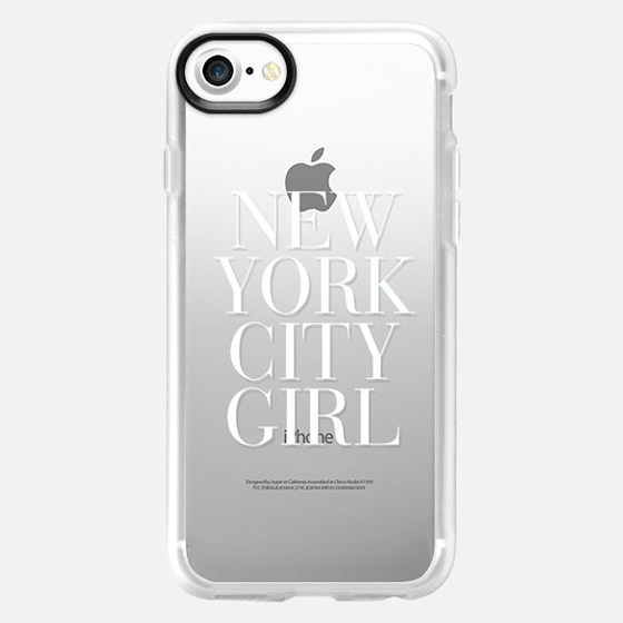 New York City Girl White Vogue Typography - Wallet Case