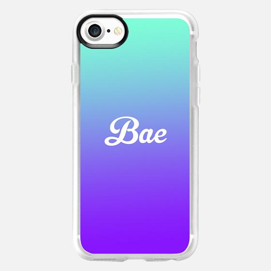Bae Turquoise Purple Gradient Fade - Wallet Case