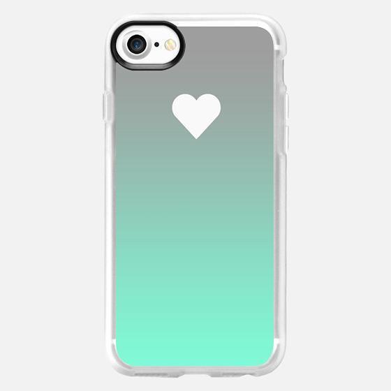 Tiffany Apple Fade Heart - Wallet Case