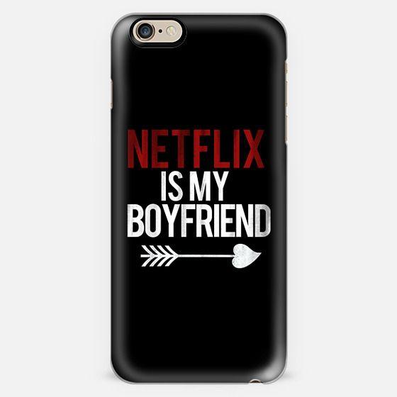 Netflix is my Boyfriend Black Cupid Love Arrow Vintage Print -