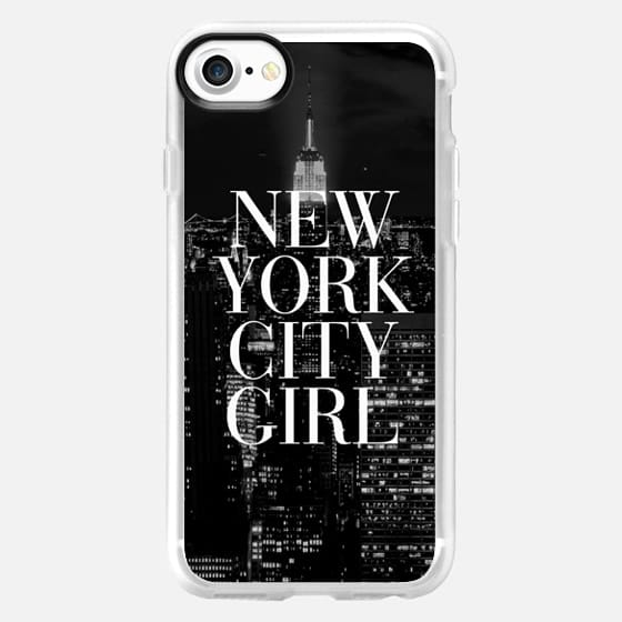 New York City Girl Black and White Skyline iPhone 6 Case - Classic Grip Case