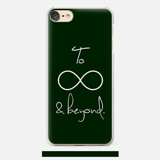 To Infinity and Beyond Black & White Typography - Classic Snap Case