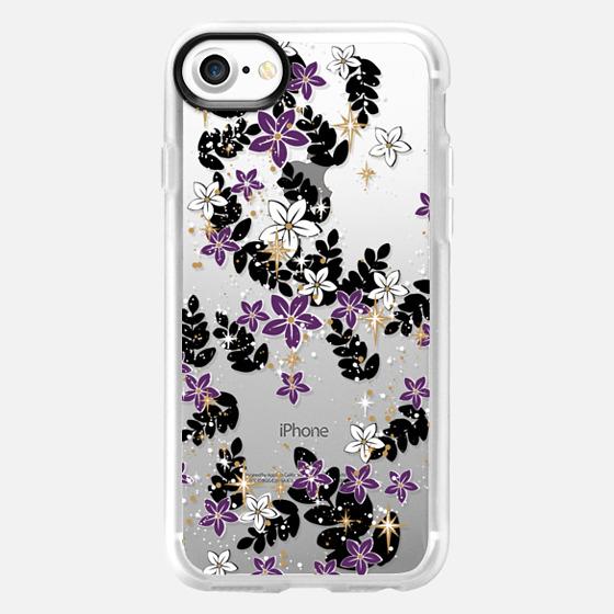 'the secret garden-purples, transparent' by Lucia - Classic Grip Case