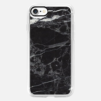 iPhone 7 ケース Classic Black Marble - Graphic by D