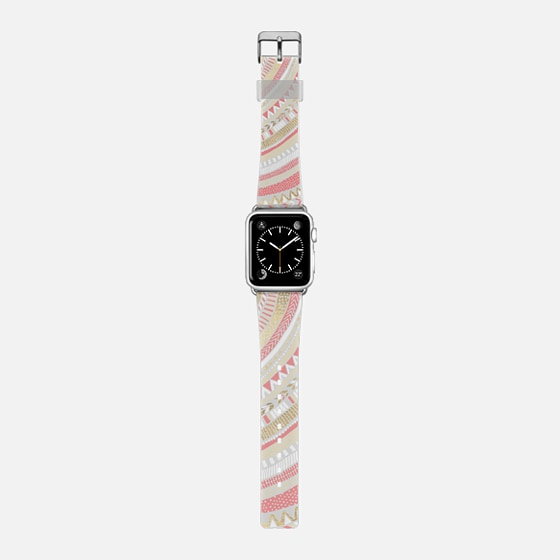 Gold + Coral Tribal Watch Strap -