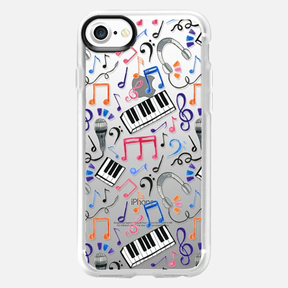 Good Beats - Musical Notes & Symbols on clear - Wallet Case