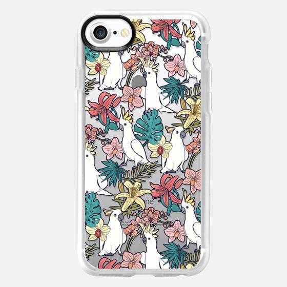 Cockatoos & Tropical Flora - Classic Grip Case