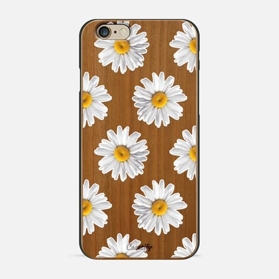 Daisies on Wood - Wood Case