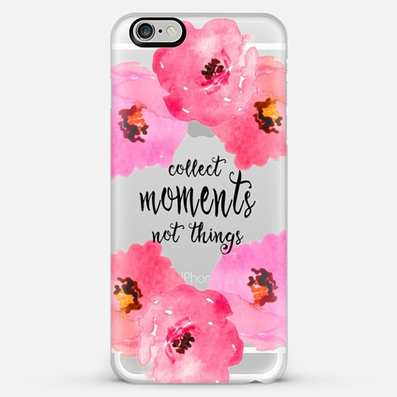 collect moments floral- transparent - Classic Snap Case