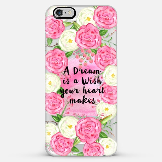 a dream is a wish- transparent - Classic Snap Case