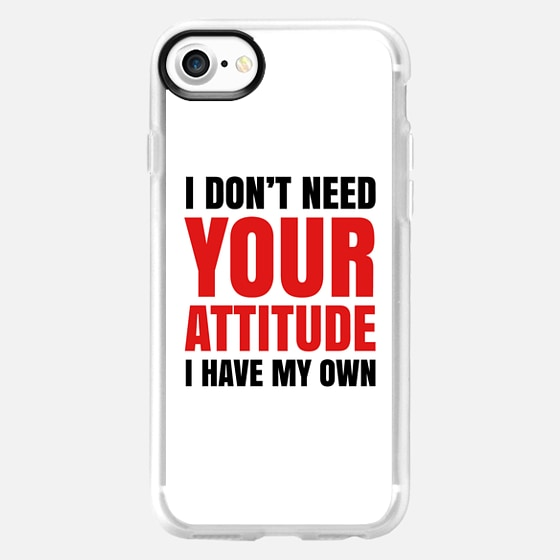 I DON'T NEED YOUR ATTITUDE I HAVE MY OWN (Red & Black) - Wallet Case