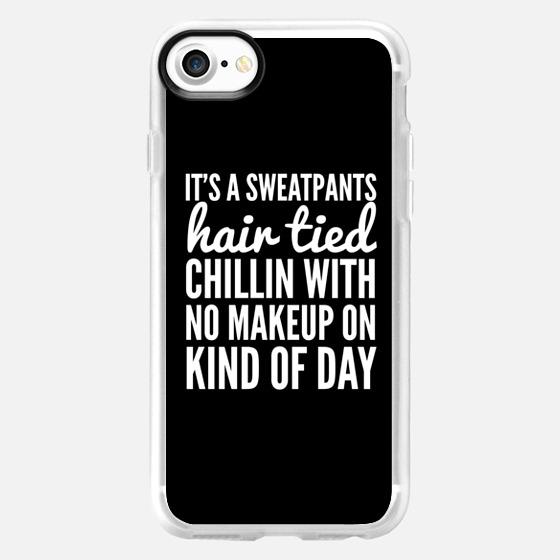 It's a Sweatpants Kind of Day (Black & White) - Wallet Case