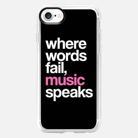 WHERE WORDS FAIL MUSIC SPEAKS (Pink Black) - Wallet Case