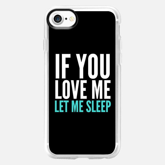 If You Love Me Let Me Sleep (Black) - Wallet Case