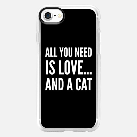 ALL YOU NEED IS LOVE... AND A CAT (Black & White) - Wallet Case