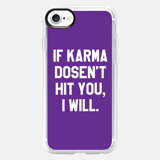 IF KARMA DOESN'T HIT YOU I WILL (Purple) - Wallet Case