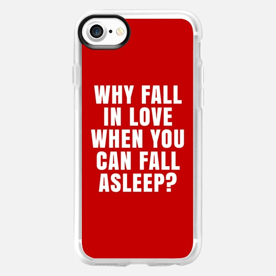 WHY FALL IN LOVE WHEN YOU CAN FALL ASLEEP? (Red) - Wallet Case