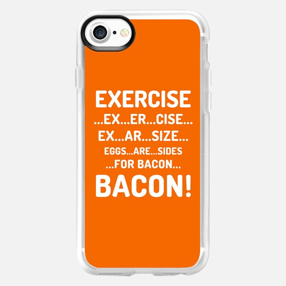 EXERCISE EGGS ARE SIDES FOR BACON (Orange) - Wallet Case