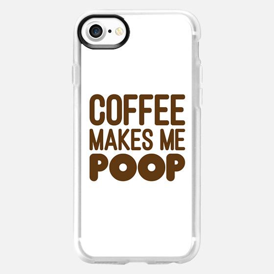 COFFEE MAKES ME POOP (Brown & White) - Wallet Case