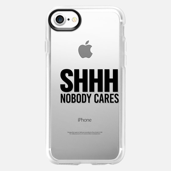 Shhh Nobody Cares Shut Up Be Quiet I Don't Care IDC - Wallet Case